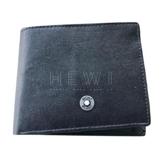Mont Blanc Men's Black Smooth Leather Bi-Fold Wallet