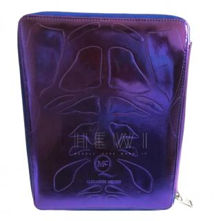McQ Iridescent Purple Embossed IPad Cover