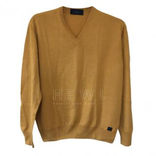 Valentino Mustard Wool Blend Knit Men's Jumper