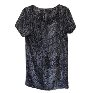 Maje Snakeskin Shift Dress