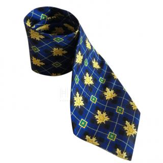 Versus Versace Blue & Gold Silk Tie