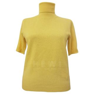 Max Mara Yellow Knit Rollneck Jumper