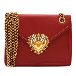 Dolce & Gabanna Small Smooth Calfskin Devotion Bag