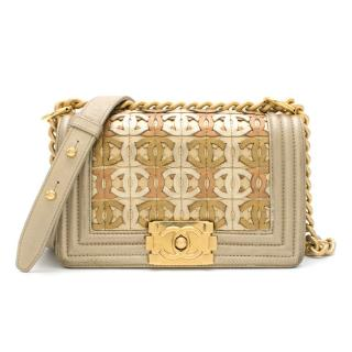 Chanel Limited Edition Gold CC Cut-Out Boy Bag