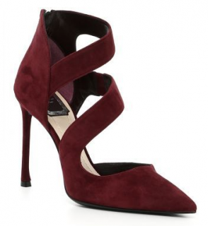 Dior Burgundy Galbe Pumps
