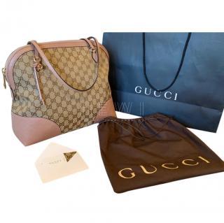 Gucci Bree Monogram GG Canvas Shoulder Bag,