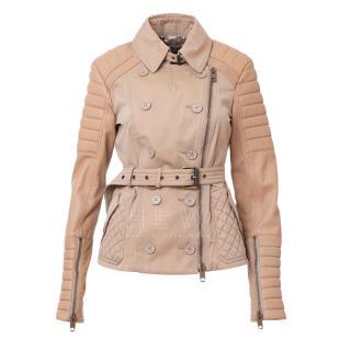 Burberry Prorsum Honey Leather Biker Jacket