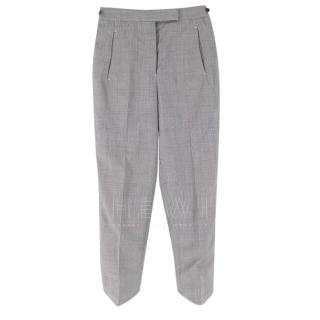 Thom Browne Women's Grey Plaid Tapered Trousers