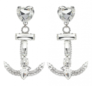 Alessandra Rich Crystal Anchor Earrings