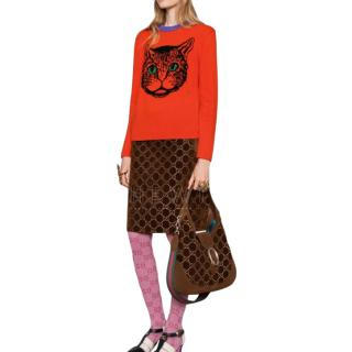 Gucci Deep Orange and Mystic Cat Sweater