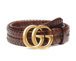 Gucci Braided Belt W/ Double G Buckle