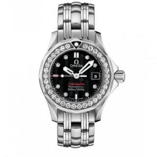 Omega Seamaster Ladies Watch W/ 0.99ct Diamond Bezel