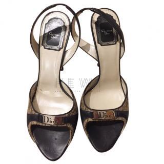 Dior vintage logo slingback sandals