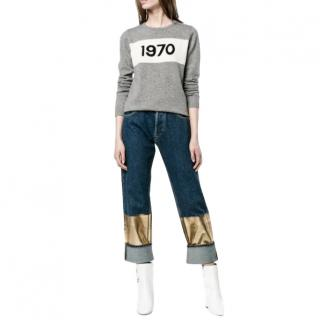 Bella Freud Grey Cashmere 1970 Jumper