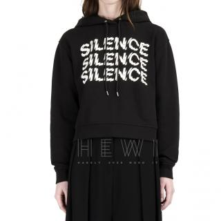 McQ Triple Silence Cropped Hoodie