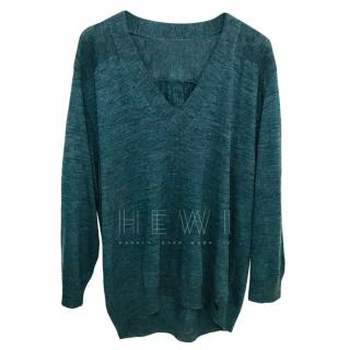 See by Chloe Blue Knit Wool Blend Jumper