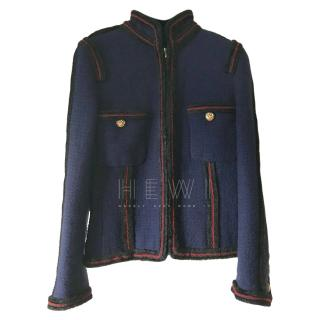 Chanel Pre-Fall '09 Moscow Navy Tweed Jacket