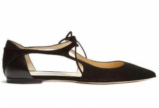 Jimmy Choo Vanessa cut-out suede flats