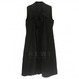 Elie Tahari Ruffled Black Silk Dress