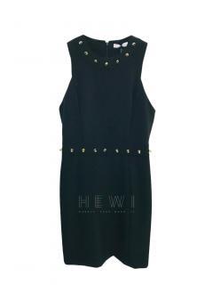 Versace Collection black sleeveless studded dress