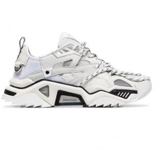 CALVIN KLEIN 205W39NYC White Strike leather sneakers