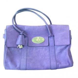 Mulberry Limited Edition Purple Nubuk Bayswater Bag