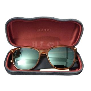 Gucci Bue Lense Amber Sunglasses