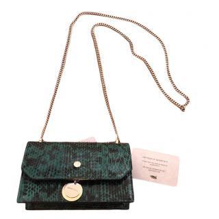 Jimmy Choo Emerald Gloss Elaphe Finley Bag