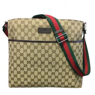 Gucci GG Monogram Web Strap Messenger Bag