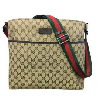 Gucci GG Monogram Web Strap Messenger Bag