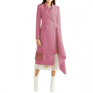 Alexander McQueen Asymmetric Frayed Wool And Cashmere Coat
