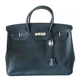 Hermes Bleu Obscur Togo Leather 40cm Birkin