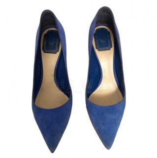 Dior Blue Suede Pumps