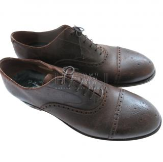 Silvano Lattanz Antique Brown Derby Brogues