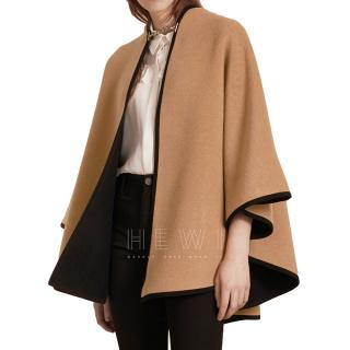 Burberry Wool & Cashmere Military Poncho Cape