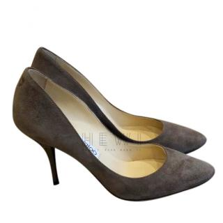 Jimmy choo i Taupe Suede Pumps