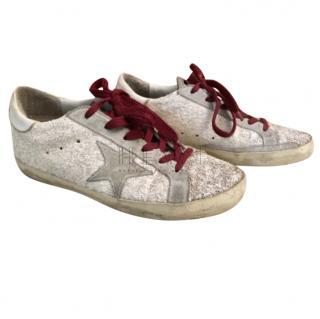 Golden Goose Superstar White Glitter Sneakers