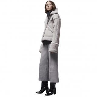 Victoria Beckham oversized shearling jacket