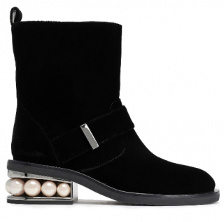 Nicholas Kirkwood Faux pearl-embellished ankle boots