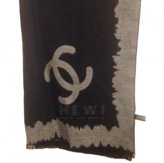 Chanel silk & cashmere scarf