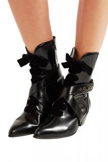 PHILOSOPHY DI LORENZO SERAFINI Black Leather Ankle Boots