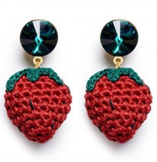 Vanessa Arizaga Berry Cute Earrings