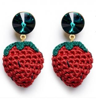 Vanessa Arizaga Berry Cute Earrings