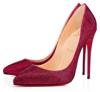 Christian Louboutin Pigalle Follies 120 in Cassis Glitter