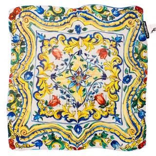 Dolce & Gabbana Sicily Print Silk Headscarf