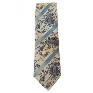 Alexander McQueen Silk Floral Print Tie