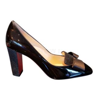 Christian Louboutin Patent Leather Bow Detail Pumps