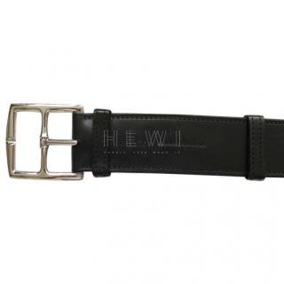 Hermes Men's Black Leather Belt