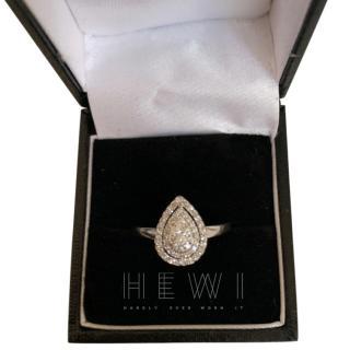 Bespoke Pear Shape Diamond White Gold Ring