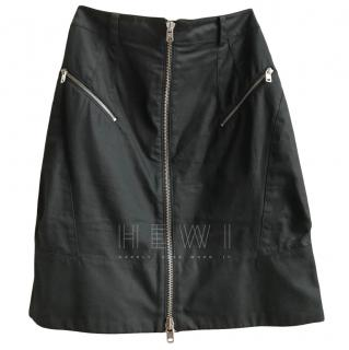 McQ Black Pleated Hem Mini Skirt